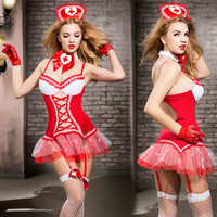 Women Lace Babydoll Lingerie Sexy Hot Erotic Dress Red Nurse Cosplay Sexy Erotic Lingerie Porno Costumes Nurse Cosplay Uniform