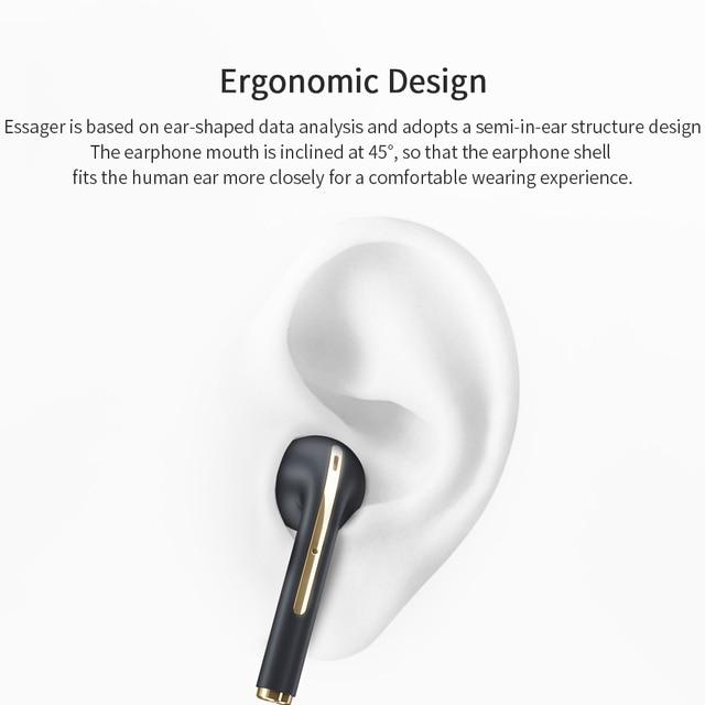 Essager J18 Pro Wireless Headphones With Microphone Stereo TWS Bluetooth 5.0 Earphones Ear buds Handfree Sport Headset EarBuds 6