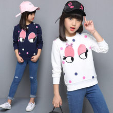Kids Cute Big Eyes T shirt For Girls Long Sleeve Autumn Tshirt Tops Teenage Girls Fashion 12 Years to 4 Years Eye Clothing 5t to 14 years kids