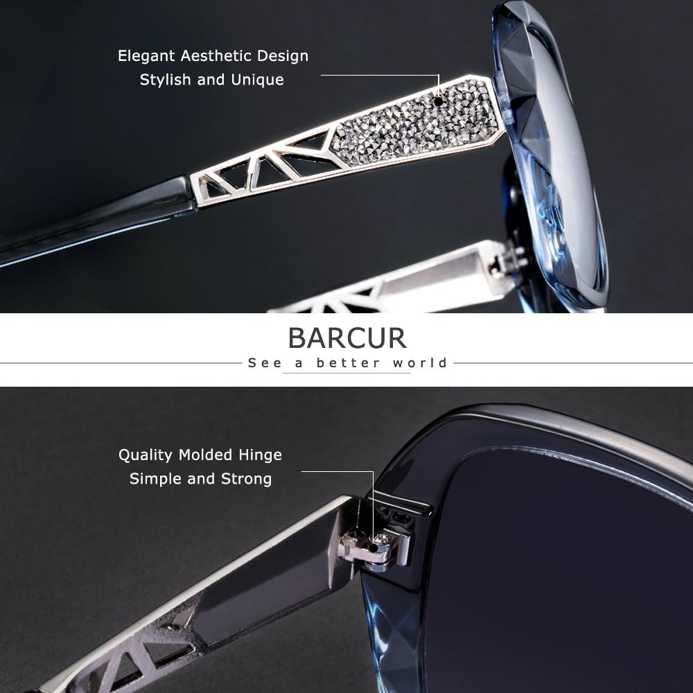 BARCUR Original Sunglasses Women Polarized Elegant Design For Ladies Sun Glasses Female 2