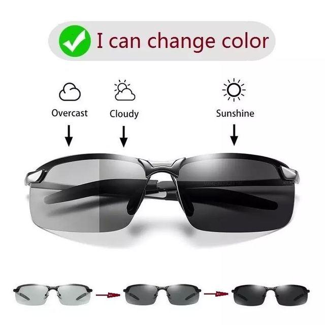 Color Changing Sunglasses Men Polarized Chameleon Glasses Men Driving Sunglasses Day And Night Vision Driver Goggles uv400 1