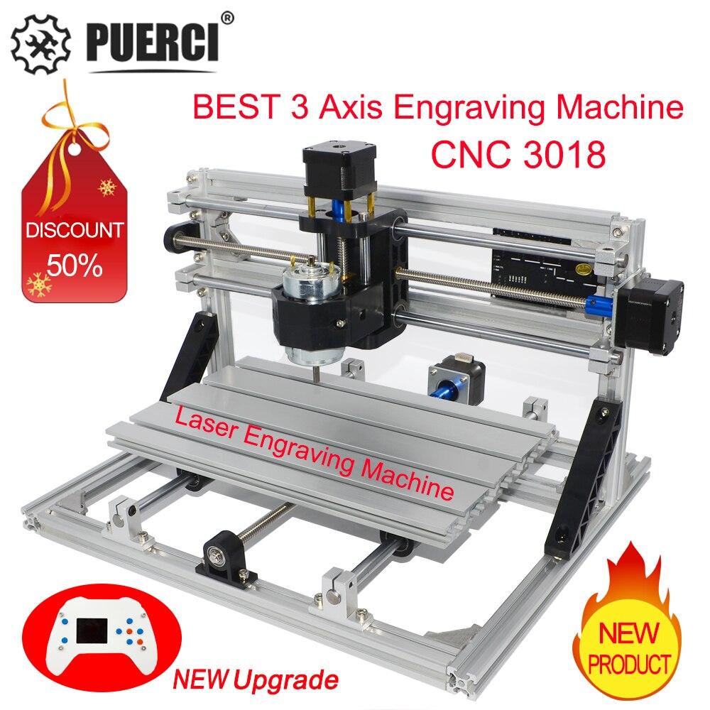 CNC 3018 Mini Laser Engraving Machine DIY Hobby Cutting Tools Laser Engraver  ER11 GRBL For Wood PCB PVC Mini CNC Router CNC3018