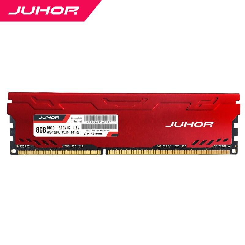 JUHOR ddr3 en RAMS 4gb 8gb 16 gb y 32 gb de memoria con calor udimm 1333mhz 1600mhz PC RAM 1,5 V nuevo dimm barco memoria ram