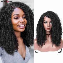 FAVE Kinky Curly Lace Front 9*1.4 Deep Side Part Shoulder Length L Part