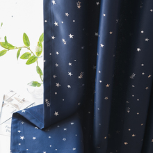 CDIY Stars Childern Blackout Curtains For Living Room Bedroom  Window Cloth Curtain For Kitchen Shiny Thick Curtains Drapes Door modern castle printed blackout curtains for living room bedroom window thick curtain drapes children cloth curtains for kid