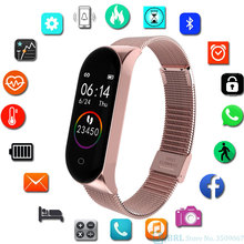 Smart Watch for Kids Stainless Steel Band M4 SmartWatch Ios