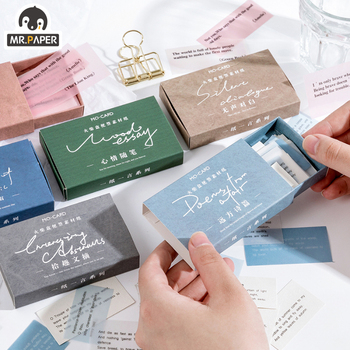 Mr.paper 60pcs/box Simple text Kraft Paper Scrapbooking/Card Making/Journaling Project DIY Diary Decoration LOMO Cards