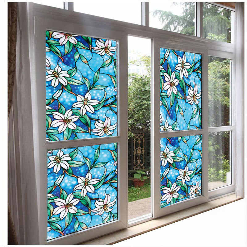 Декоративная пленка на окна с рисунком фото