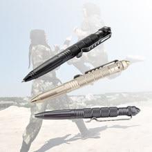 Stylo militaire de poche tactique en aluminium antidérapant, tête en acier au tungstène, autodéfense, Kit de survie, brise-verre