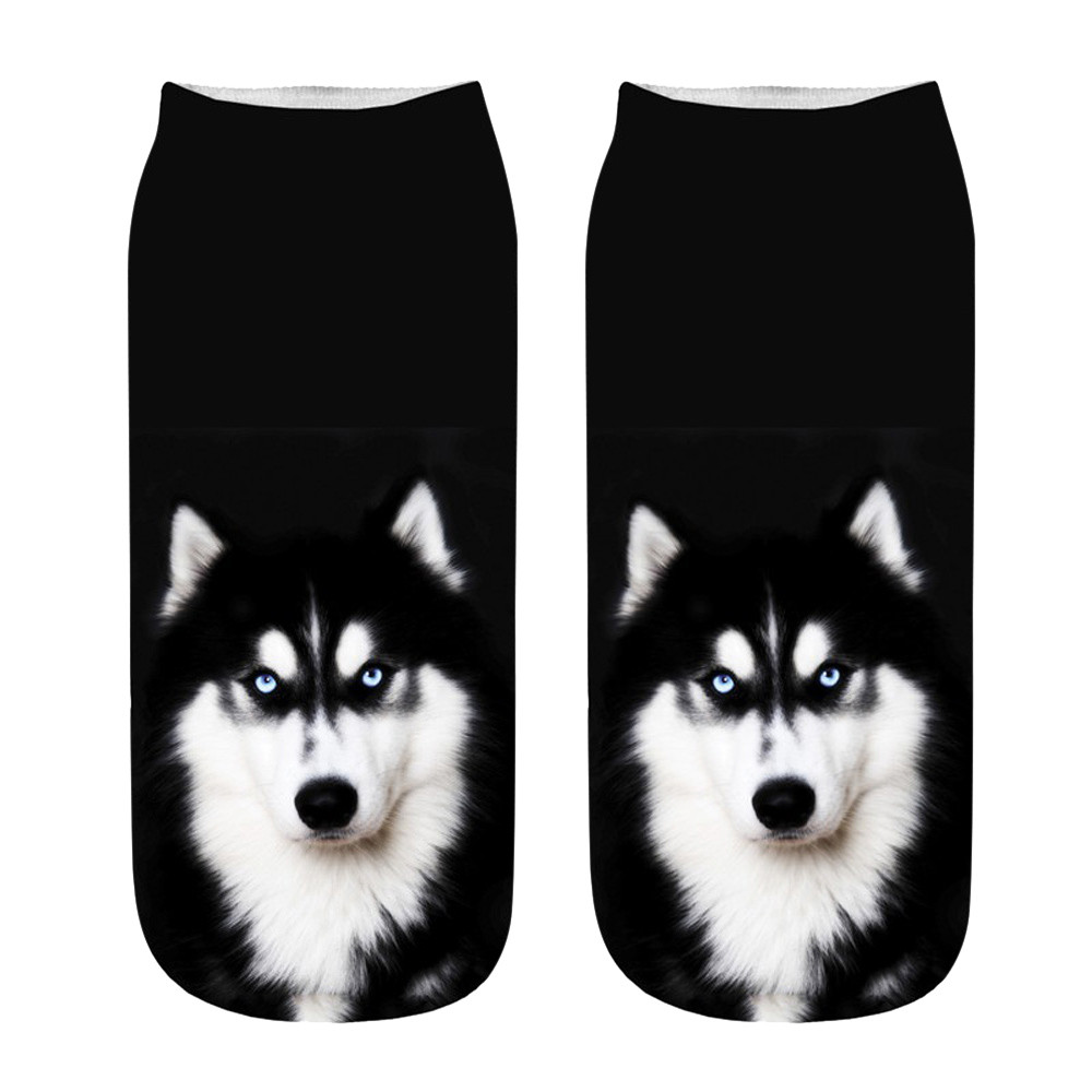 Women Men Girls Boys Teens Socks Funny Unisex Short Socks 3D Dog Cats Pets Printed Anklet Socks Casual Soft Popular Fashion