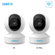 Reolink 3mp 4mp câmera ip de segurança em casa 2.4g/5g wifi pan & tilt 2 way áudio slot para cartão sd câmera de vigilância interna e1/e1 pro