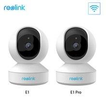 Reolink cámara ip de seguridad para el hogar, 3MP, 4MP, 2,4G/5G, WiFi, Pan & Tilt, audio bidireccional, ranura para tarjeta SD, cámara de vigilancia interior E1/E1 Pro