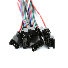 5Pairs 15cm JST SM 2Pin Plug Socket Male to Female Wire Connector LED Strip Light Driver Connectors Quick Adapter 100sets lot connectors sm sm 2pin pitch 2 54mm female and male housing terminals sm 2p sm 2r jst 2 54mm sm2 54