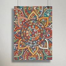 Цветная Мандала абстрактный холст постер Йога Настенная картина с принтом дзен декоративная картина современный декор для гостиной без ра...