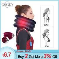 Luft Hals Traktion Bahre Wirbelsäule Zervikale Traktor Neck Stretching Kragen Relief Schmerzen Aufblasbare Hals Unterstützung Kissen