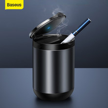 Baseus – cendrier de voiture en alliage d'aluminium, léger, Portable, sans fumée, Auto, retardateur de flamme, boîte porte-Cigarette