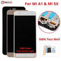 For Xiaomi A1 Screen LCD Display Touch Screen With Frame+Soft key Light Digitizer Assembly Replacement For Xiaomi MI A1 MI5X