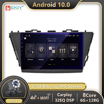 EKIY DSP Autoradio 2din Android 10 For Toyota V Plus Prius Alpha RHD 2012-2015 Car Radio Multimedia Video Player GPS Navigation image