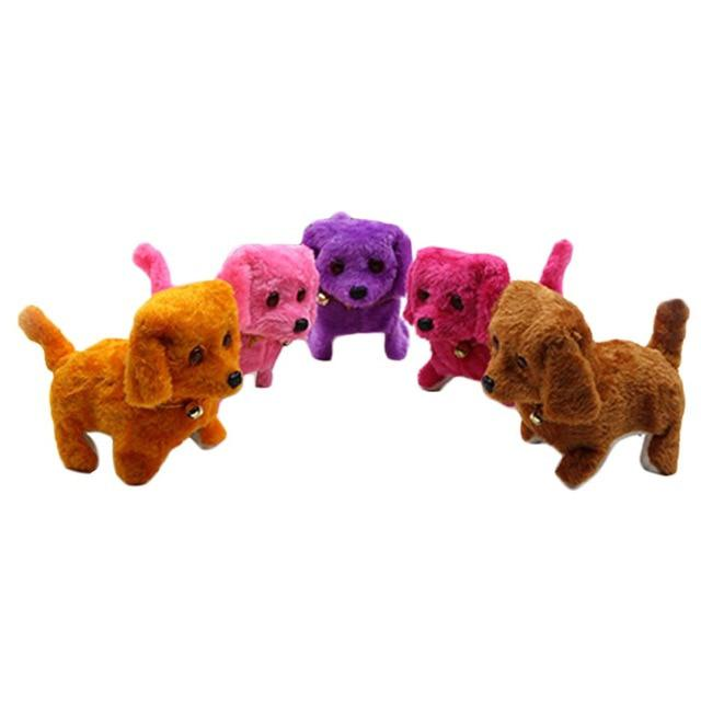 1 Pc Random Color Walking Barking Toy High Quality Funny Electric Short Floss Dog Toys Electric Dog Moving Dog