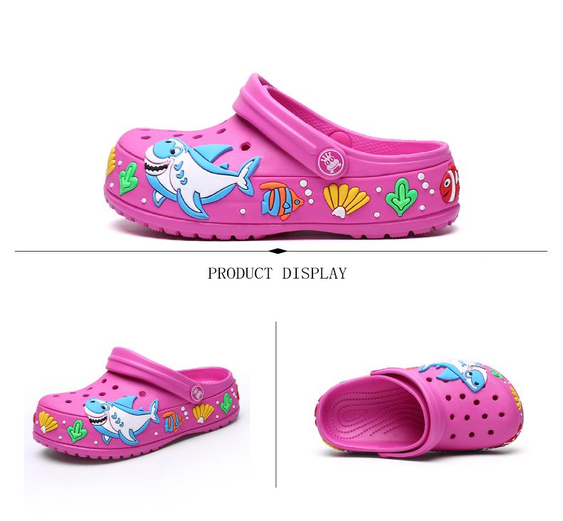 2017 New fashion children garden shoes children cartoon sandal babies summer slippers high quality kids garden children sandals (6)