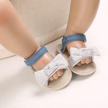 Летние детские сандалии 0 18 м хлопковая нескользящая обувь