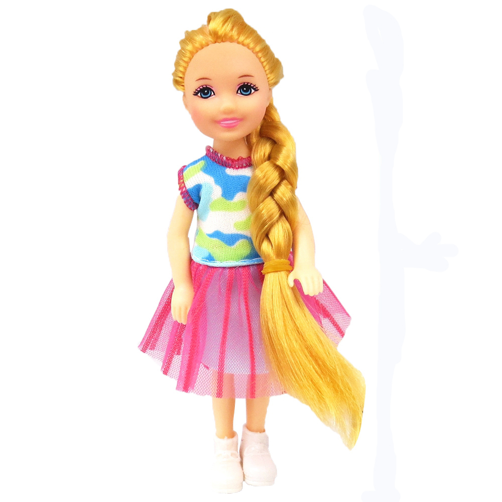 NK 1 Set Girl's Doll 5 Movable Jointed Mini Doll 14 Cm Cute Doll + Shoes+Outfit For Kelly  Doll Girls Gift Baby Toys 11D 1X