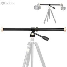 Cadiso  QZSD Horizontal Bar Camera Mount Tripod Boom Rotatable Multi-Angle Center Column Rod Extension Cross Arm Steeve