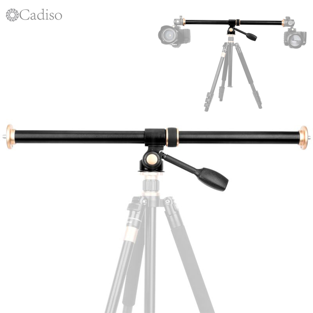 Cadiso QZSD Horizontal Bar Camera Mount Tripod Boom Rotatable Multi Angle Center Column Rod Extension Cross Arm Steeve