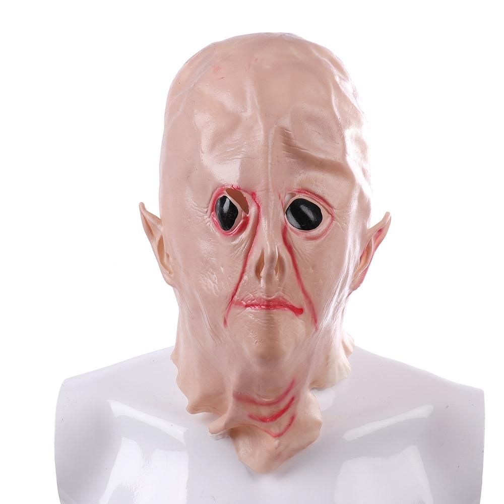 Halloween Creepy Vinyl UFO Alien Head Mask Cosplay Party Supplies
