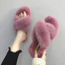 Non-slip Rabbit Fur Winter Women Slippers Home Female Comfort Floor Shoes Cotton Ladies Indoor Slippers Plush Slipper Unisex kawai girl soldier sailor moon the cat luna bowknot home cotton flannel slipper ma am indoor non slip floor slipper girl s shoes
