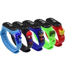 Marvel Children digital watch Spiderman iron Man Mickey Minnie LED sports watch Casual Silicone Children's Watch Watch Bracelet
