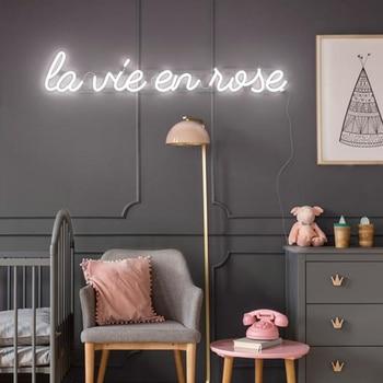 La Vie En Rose Neon Sign