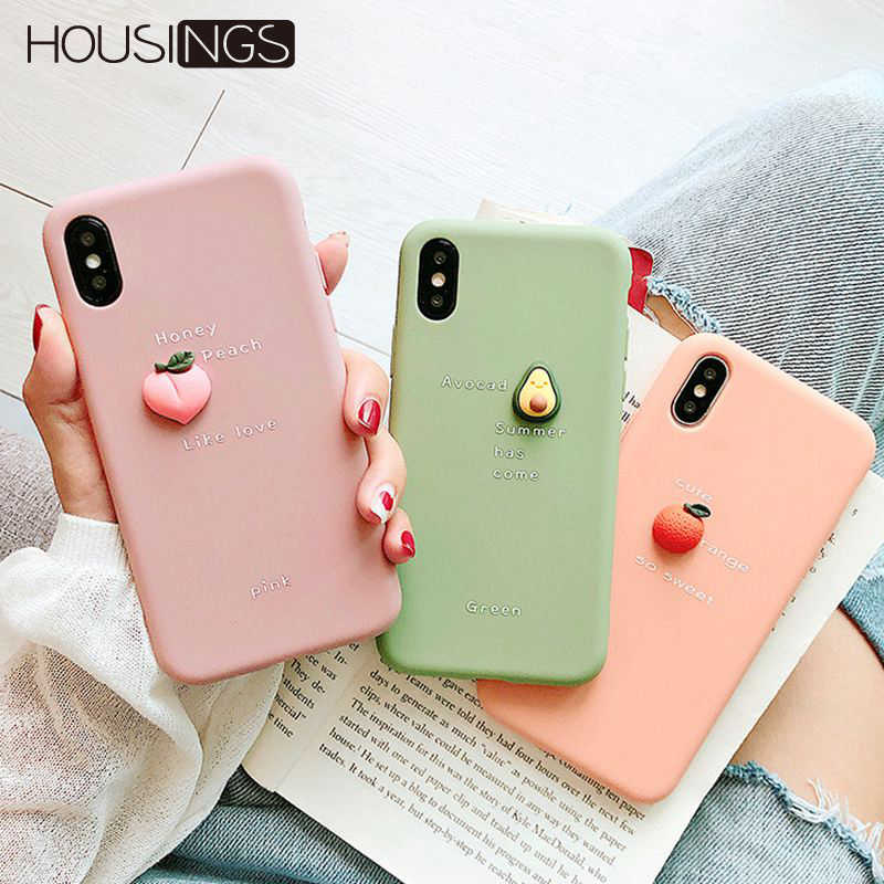 Cute Strawberry /& Avocado Phone Cases for iPhone Xr Xs Max 6 6S 7 8 Plus X Soft Full Body Fruit Back Cover Coque,Green,for iPhone Xr