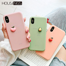 3D Cute For iPhone XR Case Fruit Cartoon Cover Silicone Cases 7 8 XS MAX 6S Plus Coque Bumper Soft Colorful Shell