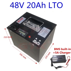 GTK Ebike scooter bicycle battery LTO 48V 20Ah Lithium titanate battery 20S BMS for bike ebike hybrid scooter +5A Charger