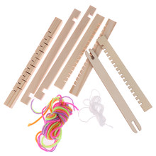 Knitting Loom Mini DIY Traditional Wooden Weaving Toy Loom Handmade Knitting Machine With Accessories For Kids Children(China)