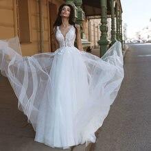 А силуэт Круглый Вырез свадебные платья 2021 Очаровательное