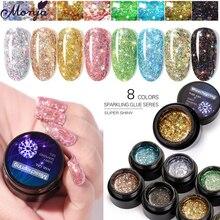 Manicure-Tool Painting Diamond-Gel Crystal Sparkling-Glitter Nail-Art Uv-Gel Colorful