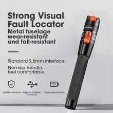 AUA 10mW localizador visual de falhas testador de cabo de fibra óptica 10mw luz laser vermelha 10 12km caneta tipo visual localizador de falhas frete grátis