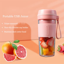 2021 New 7.4V Wireless Electric Blender Portable Juicer USB Rechargeable Fruit Mixer Cup Smoothie Maker BPA Free Food Processor
