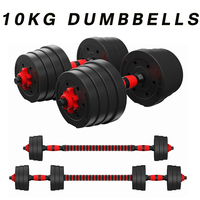 1 Pair 10kg Fitness Dumbbells Detachable Dumbbell Arm Muscle Trainer Home Gym Exercise Workout Fitness Equipment mancuernas