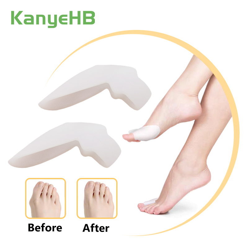 2Pcs Silicone Big Toe Separator Bunion Adjuster Hallux Valgus Toe Straightener Corrector Gel Foot Fingers Pedicure Feet Tool