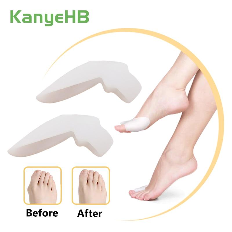 2Pcs Silicone Big Toe Separator Bunion Adjuster Hallux Valgus Toe Straightener Corrector Gel Foot Fingers Pedicure Feet Tool