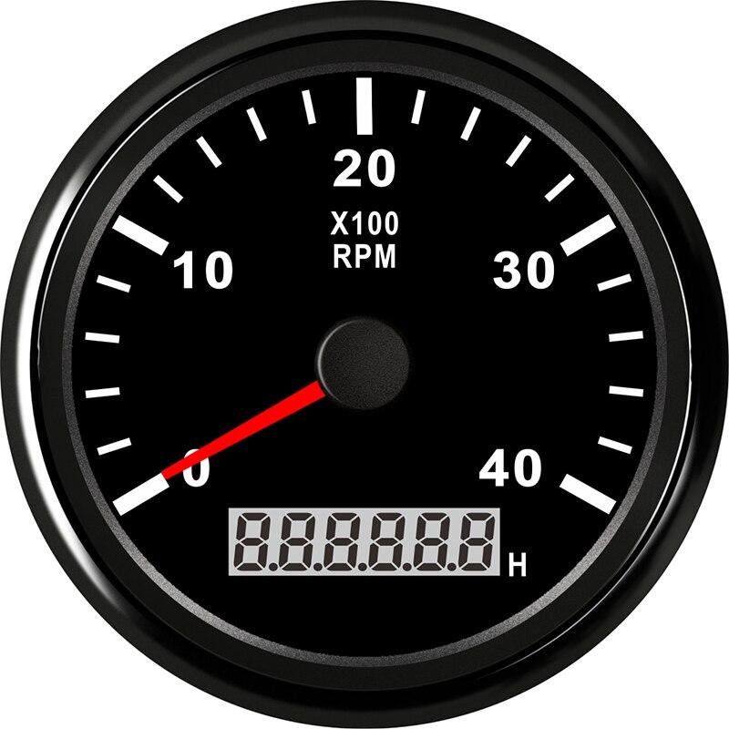 Tachymètre marin 85mm moteur heure mètre 0-4000 tr/min numérique hors-bord camion voiture bateau étanche RPM mètre tacometro auto jauge - 3