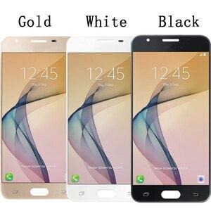 Image 2 - شاشة هاتف ذكي, شاشة سامسونج جالاكسي 5 بوصة شاشة أموليد J5 Prime G570 G5700 G570F G570M شاشة عرض LCD تعمل باللمس مجموعة محول رقمي أجزاء + حزمة خدمات