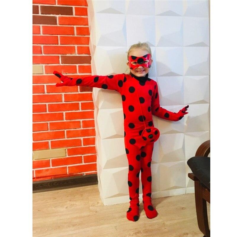 Coccinella Cosplay Disfraz Costume di Halloween Per I Bambini Di Natale Famiglia di Corrispondenza Vestiti Delle Ragazze Delle Donne Della Tuta Anime Marinette