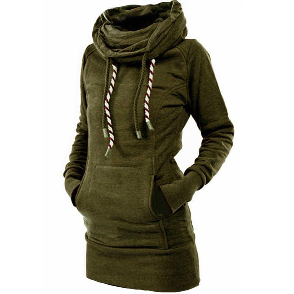 גולף סוודר גלימה רגיל עבה נים Poleron Mujer 2020 חם טוניקת סווטשירט רקום כוכב ארוך הסווטשרט שמלת נשים
