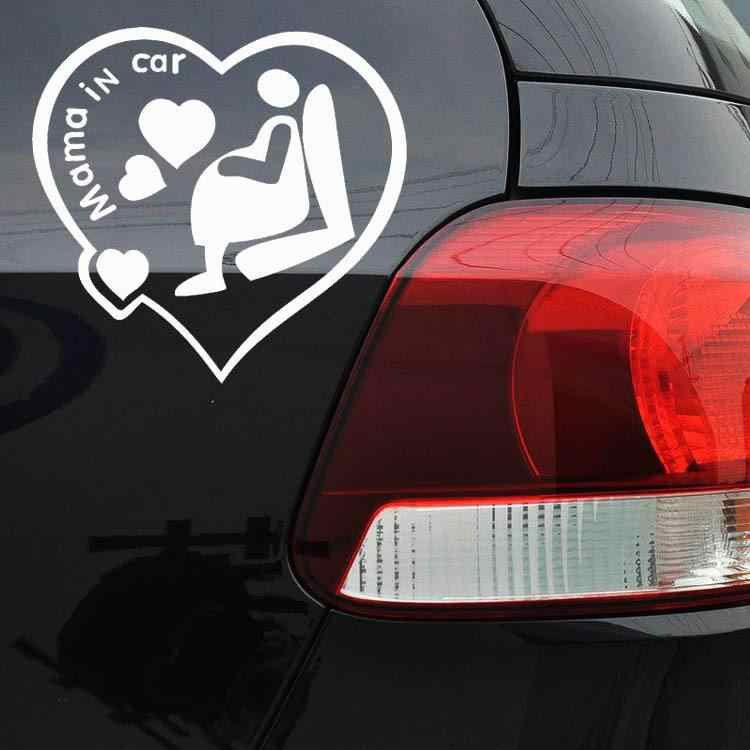 Naklejki samochodowe MAMA w samochodzie naklejka ze wzorem w ciąży matka naklejka ostrzegawcza odblaskowa naklejka na zderzak