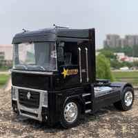 18cm Diecast 1:32 escala Renault remolque cabeza camión modelo Die-cast modificación escena accesorios coche vehículo mostrar juguetes regalos