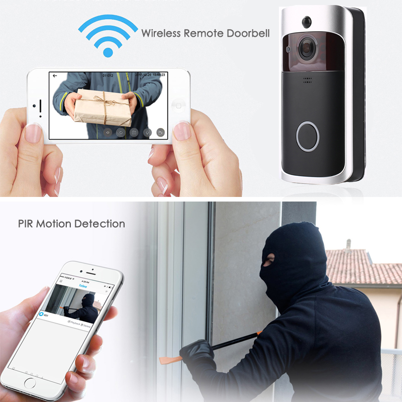 Image 4 - EKEN V5 WIFI Doorbell Smart IP Video Intercom Video Door Phone Door Bell Camera For Apartments IR Alarm Wireless Security Camera-in Doorbell from Security & Protection
